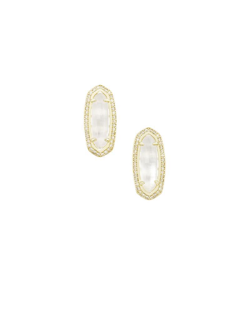 Aston Stud Earrings in Ivory Pearl