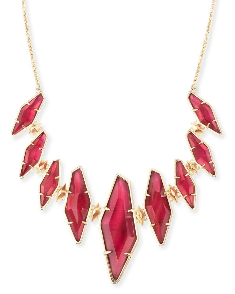 Berniece Collar Necklace in Burgundy Illusion