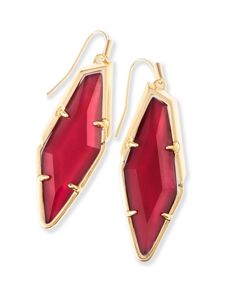 Bexley Drop Earrings in Burgundy Illusion