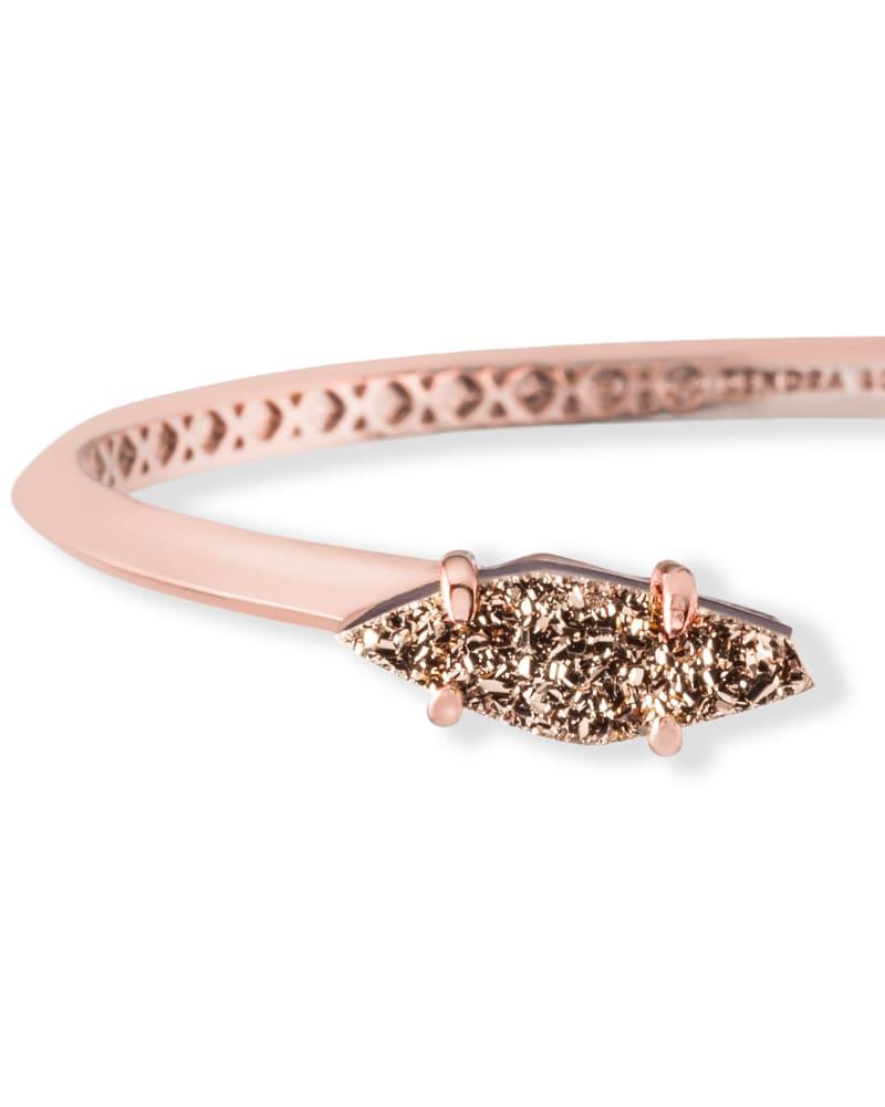 Bianca Cuff Bracelet in Rose Gold Drusy