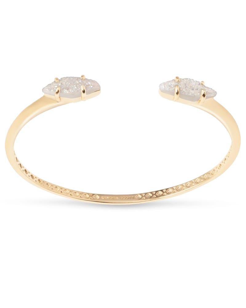 Bianca Cuff Bracelet in Iridescent Drusy