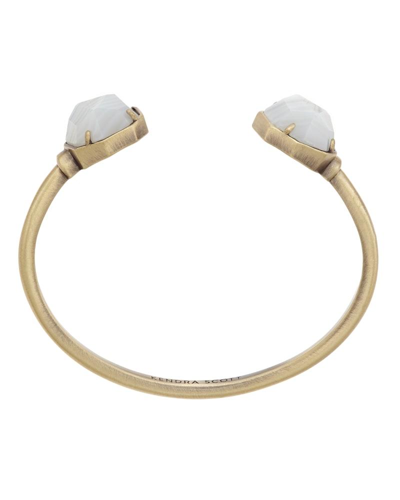Brinkley Bracelet in White Banded Agate