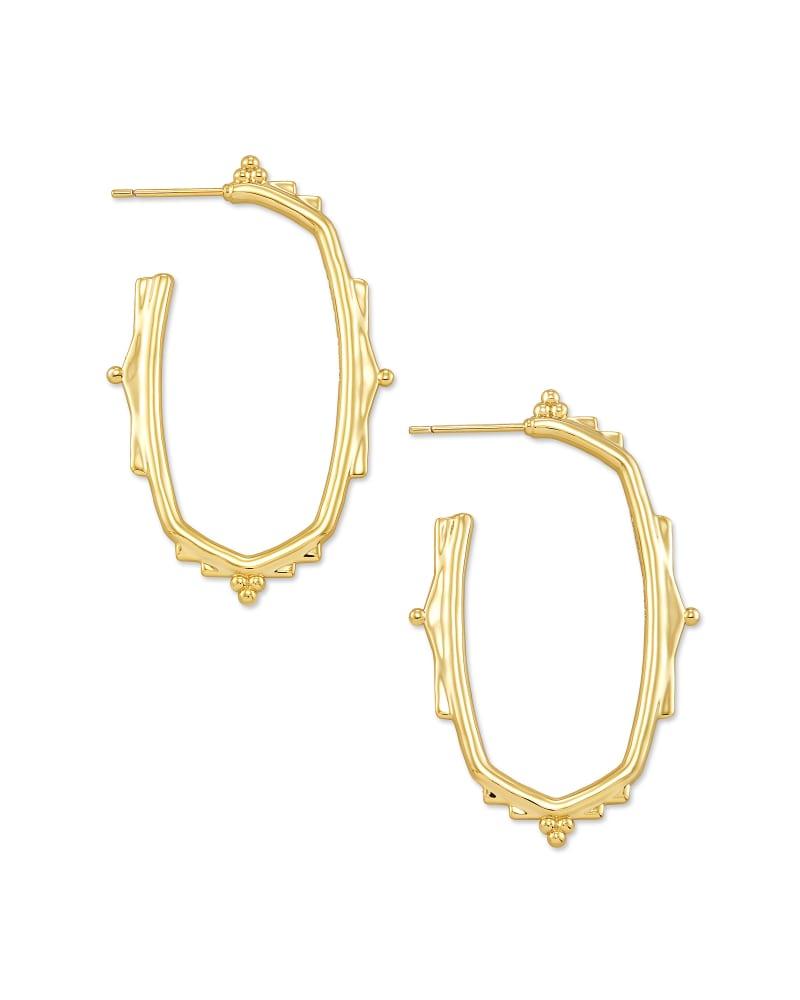 Baroque Ella Hoop Earrings in Gold