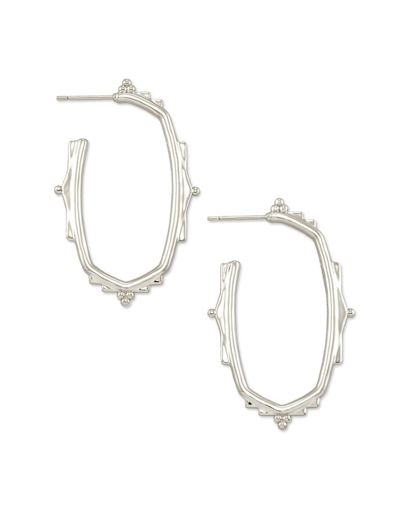 Baroque Ella Hoop Earrings in Silver