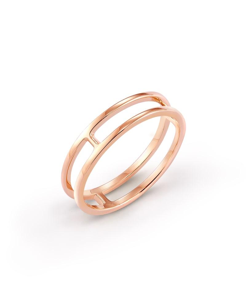 Bennett Double Band Ring in 18k Rose Gold Vermeil