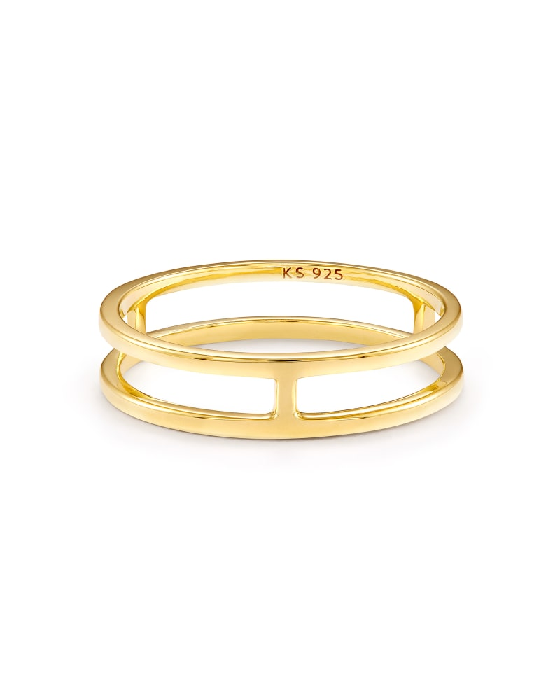 Bennett Double Band Ring in 18k Yellow Gold Vermeil