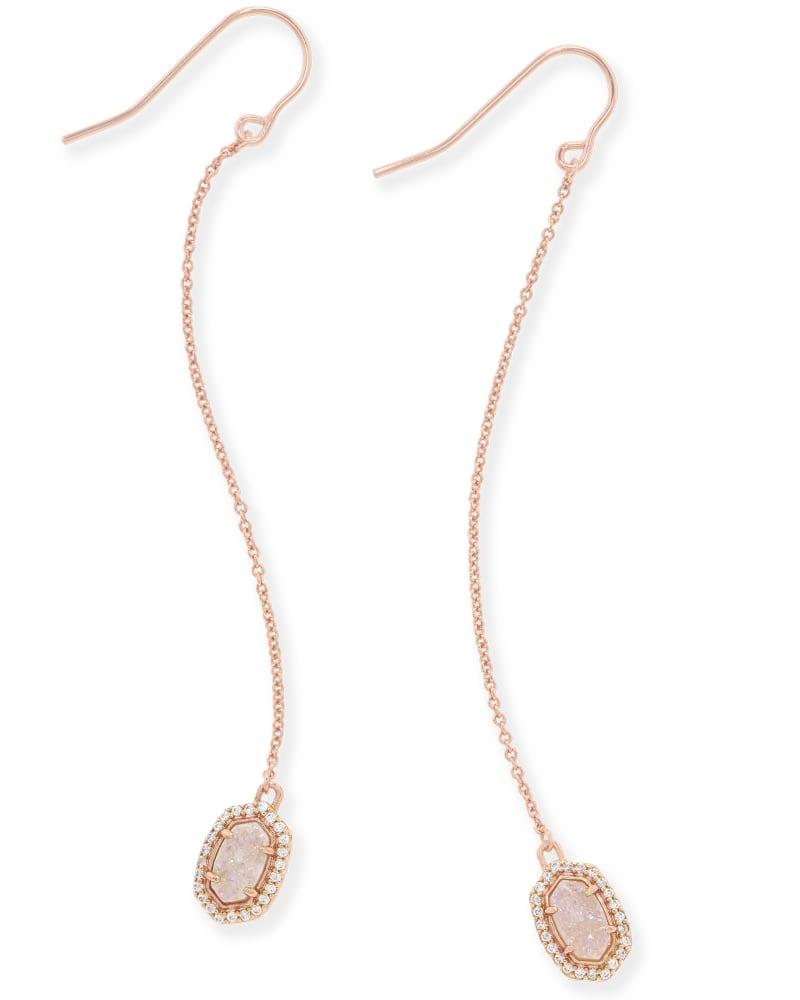 Caden Drop Earrings in Rose Gold