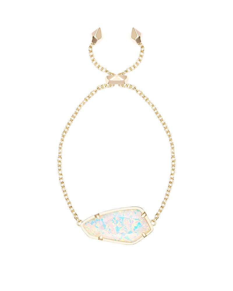 Cambel Bracelet in White Kyocera Opal