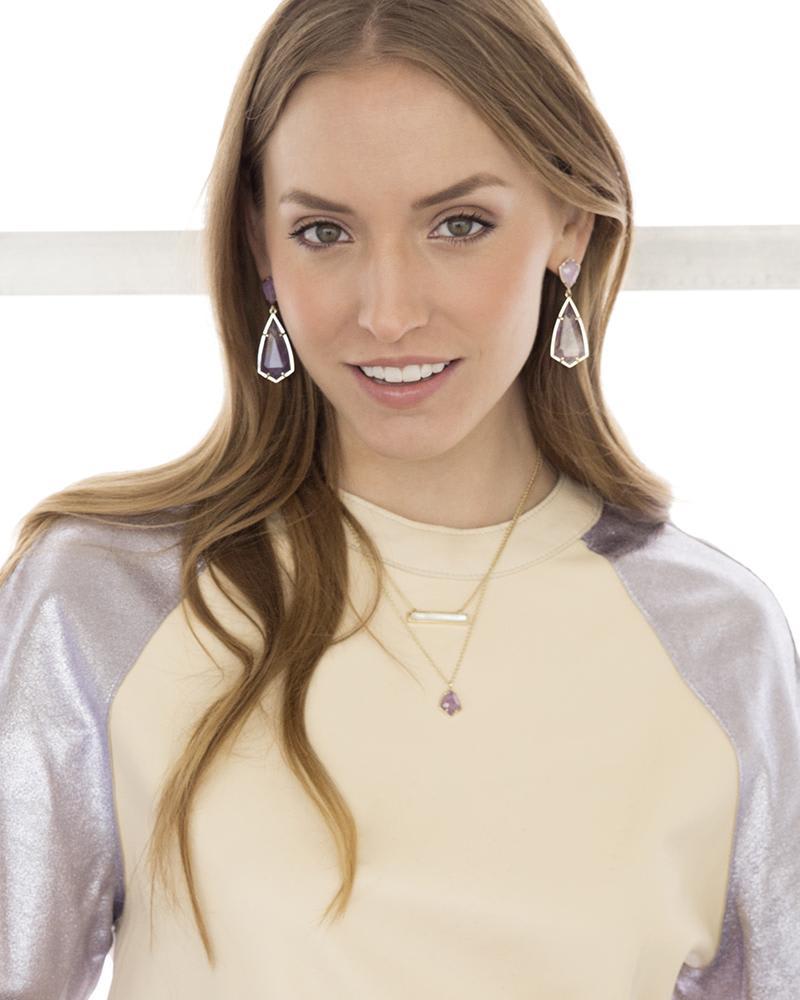 Carey Earrings in Amethyst