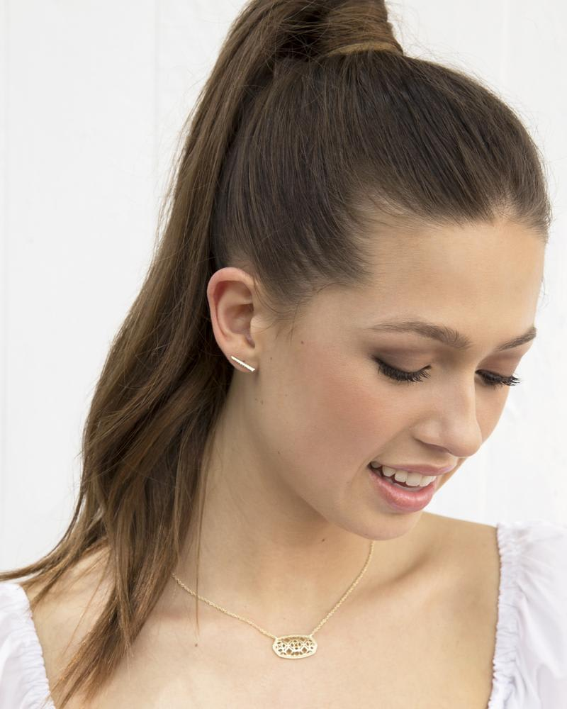 Carlson Stud Earring Set in Gold Mixed Metals