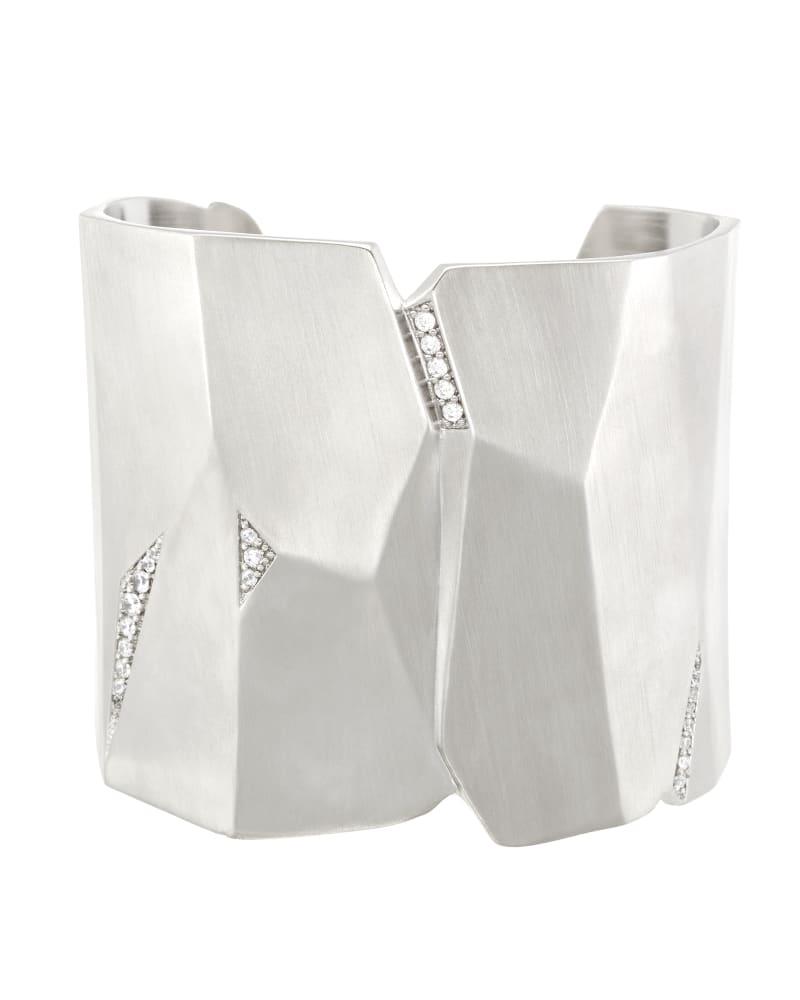 Constance Cuff Bracelet in Silver
