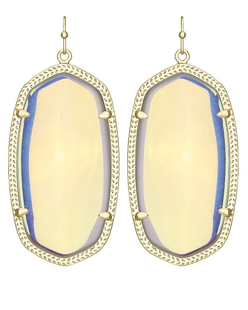 Danielle Earrings in Clear Iridescent