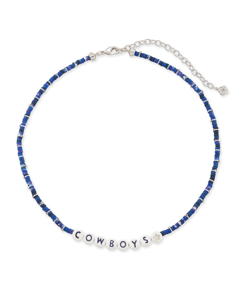 Cowboys Silver Necklace in Navy Mix