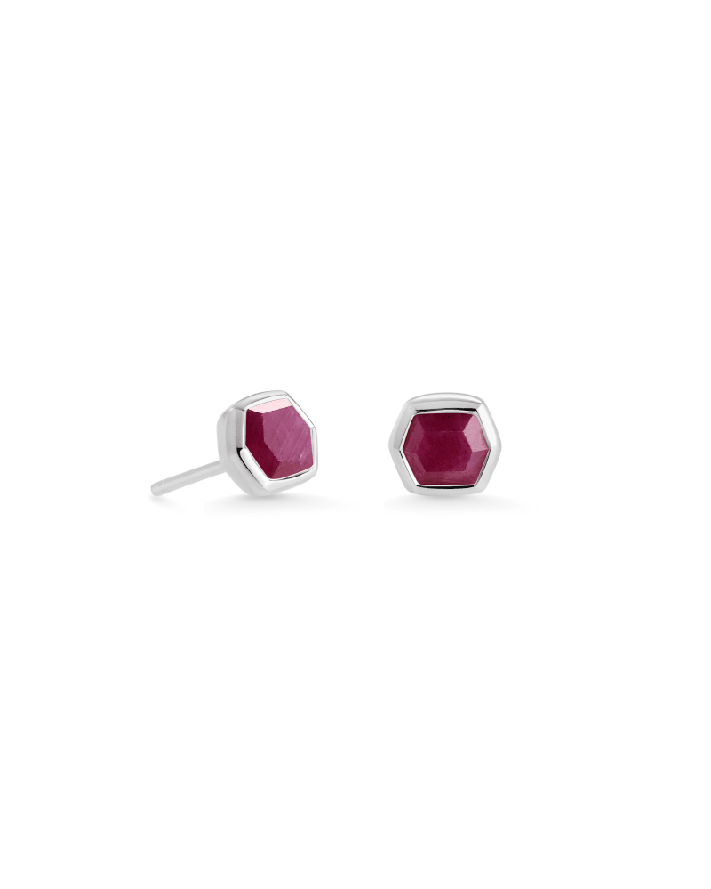 Davie Sterling Silver Stud Earrings in Ruby