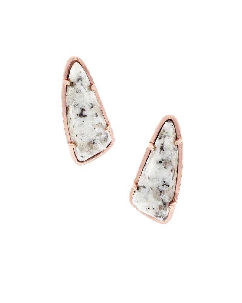 Everett Stud Earrings in Gray Granite