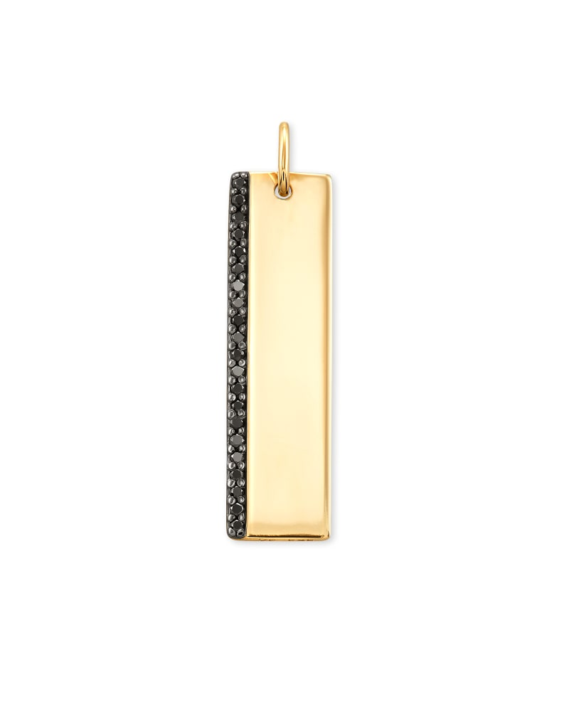 Allison 14k Yellow Gold Large Accent Charm in Black Diamond