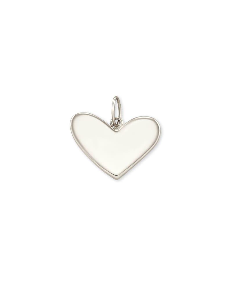 Ari Heart Charm in 14k White Gold