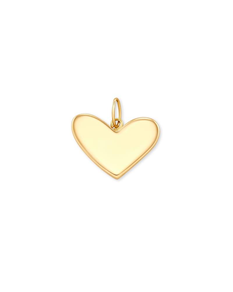 Ari Heart Charm in 14k Yellow Gold