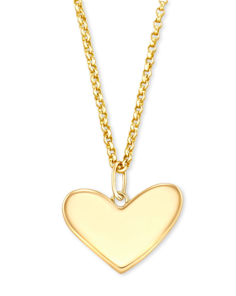 Ari Heart Charm Necklace in 14k Yellow Gold