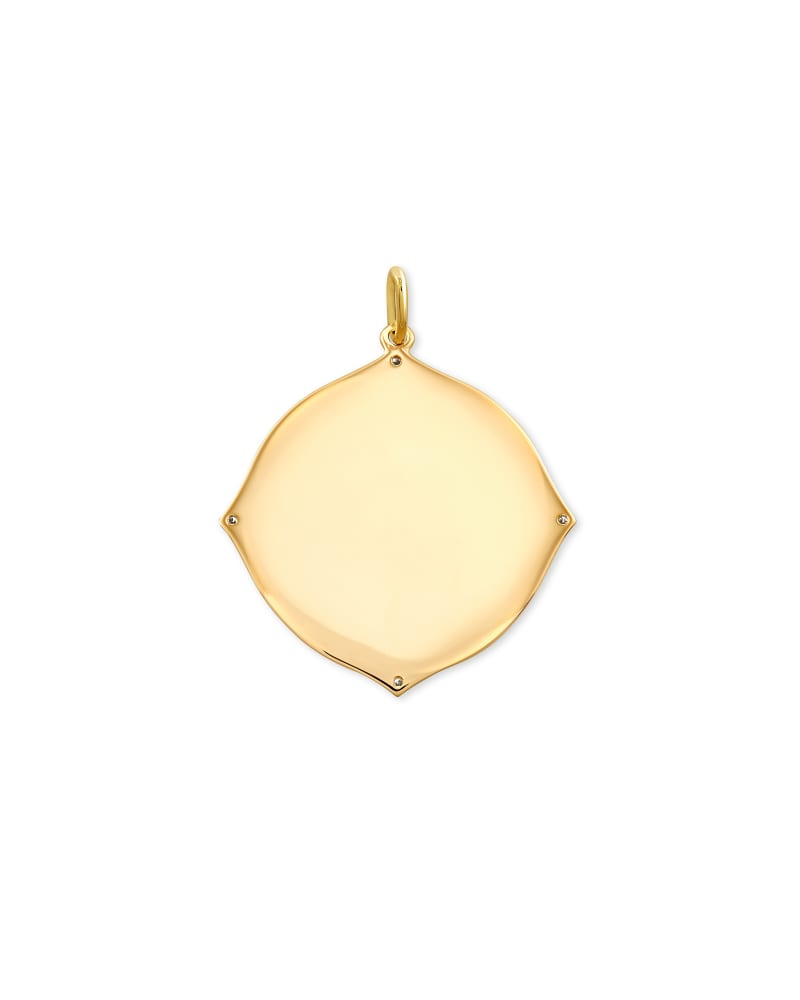 Matilda 14k Yellow Gold Charm in White Diamond