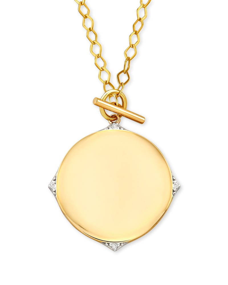 Matilda 14k Yellow Gold Pendant Necklace in White Diamond
