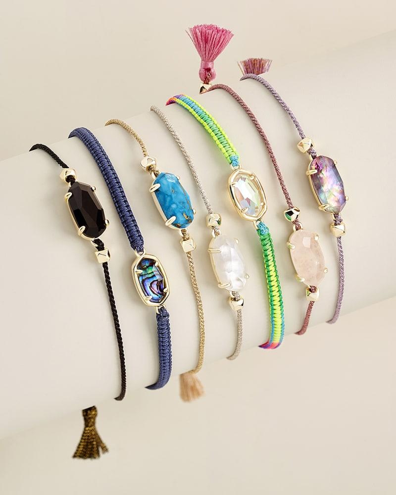 Everlyne Pink Cord Friendship Bracelet in Rose Quartz