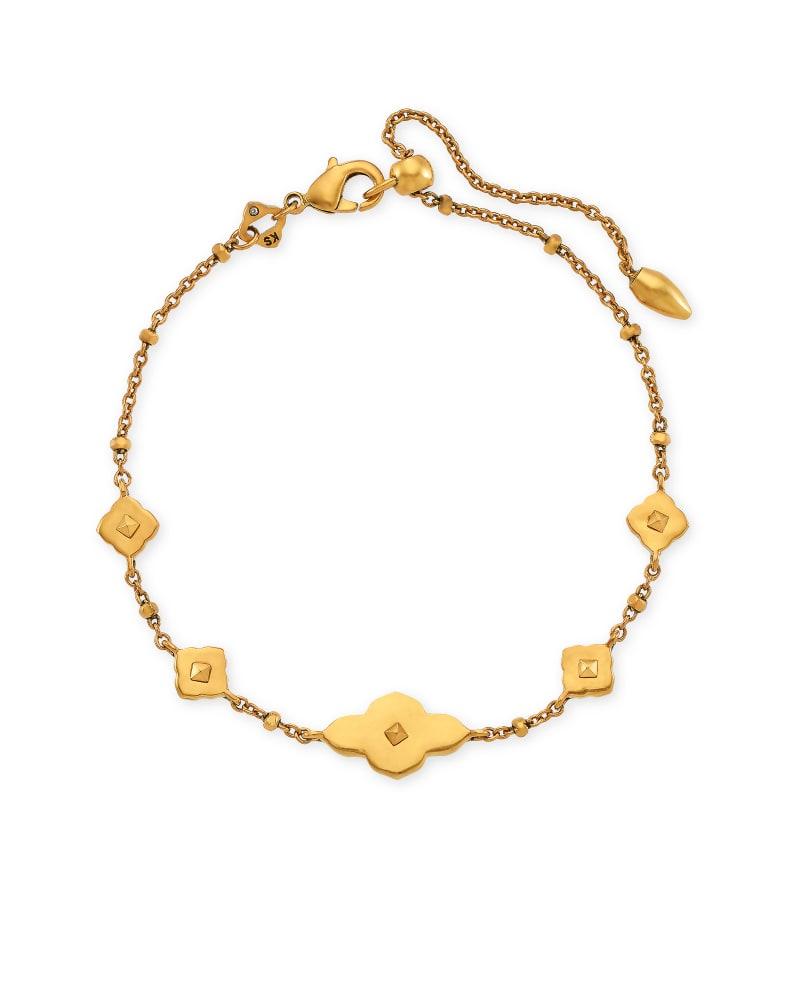 Abbie Delicate Chain Bracelet in Vintage Gold | Kendra Scott