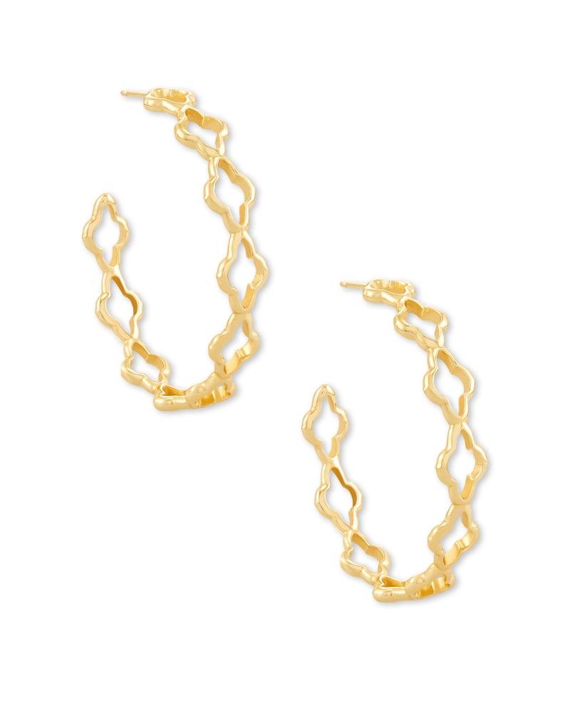 Abbie Hoop Earrings in Gold   Kendra Scott