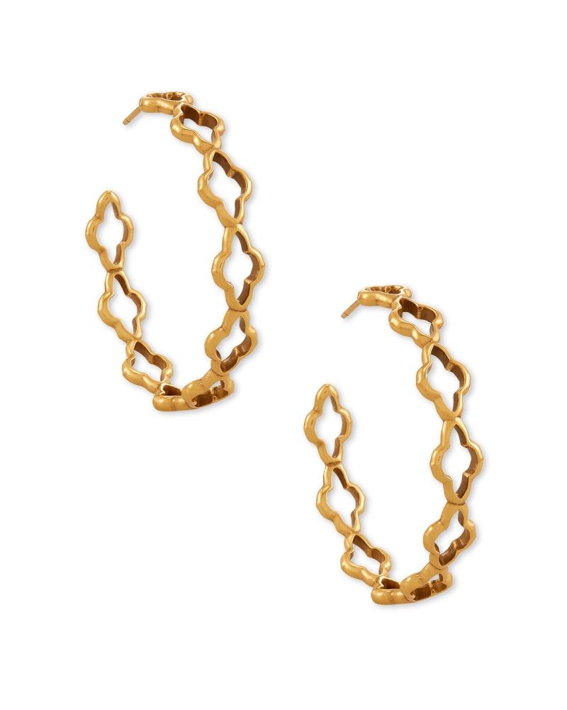 Abbie Hoop Earrings in Vintage Gold | Kendra Scott
