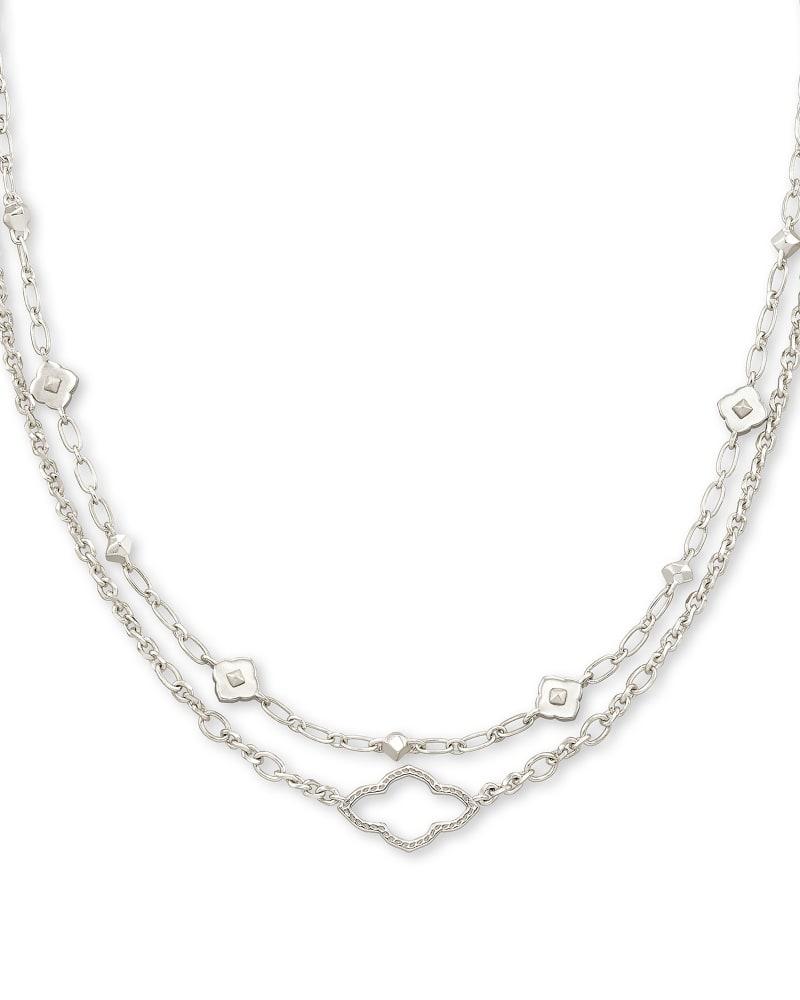 Abbie Multi Strand Necklace in Silver | Kendra Scott