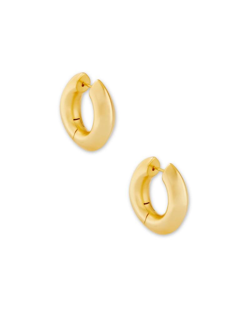 Mikki Hoop Earrings in Gold