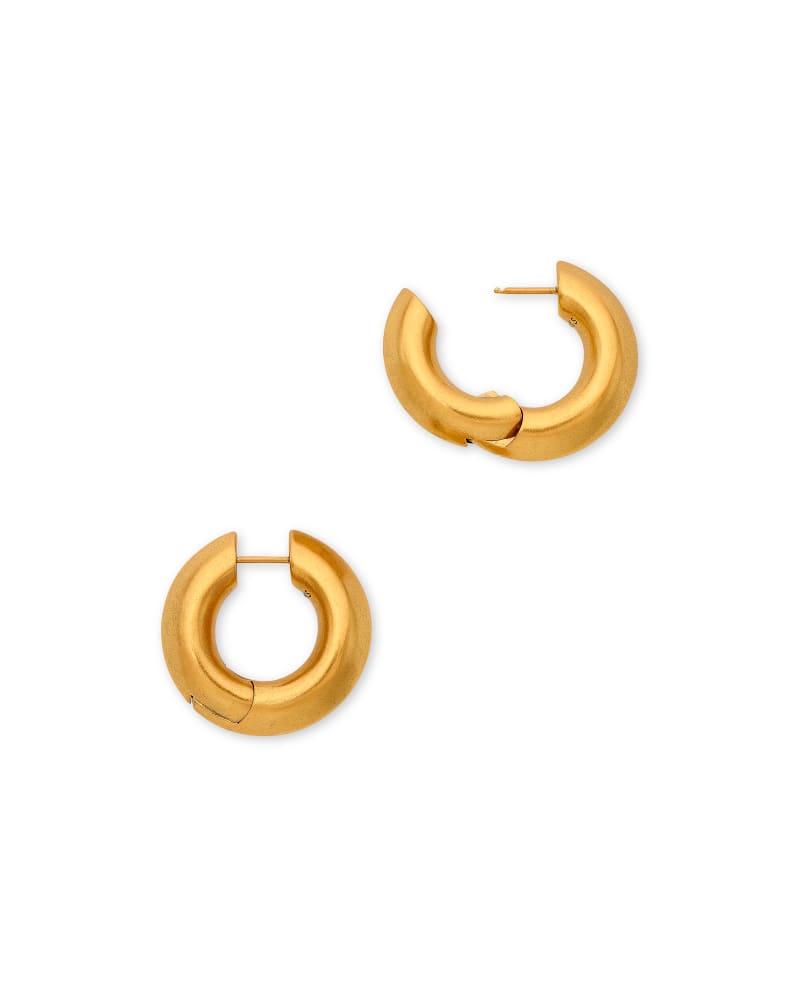 Mikki Hoop Earrings in Vintage Gold