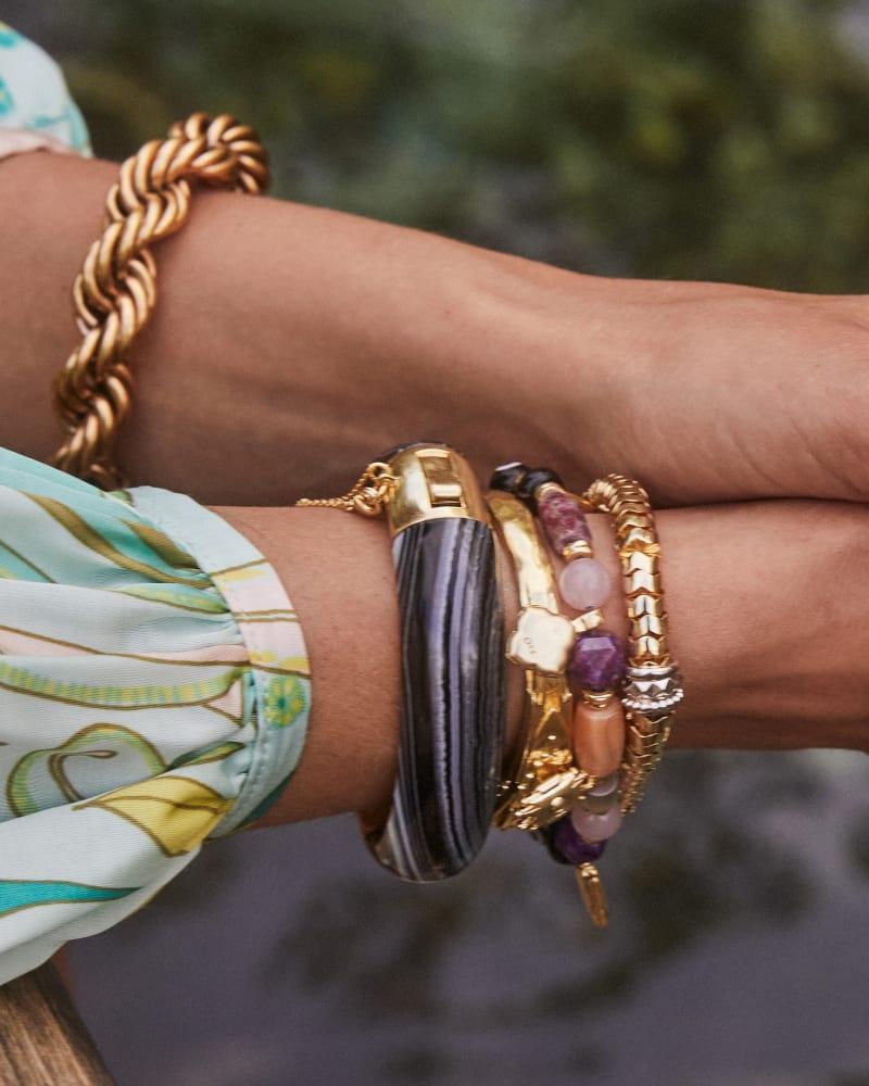 Monika Chain Bracelet in Vintage Gold