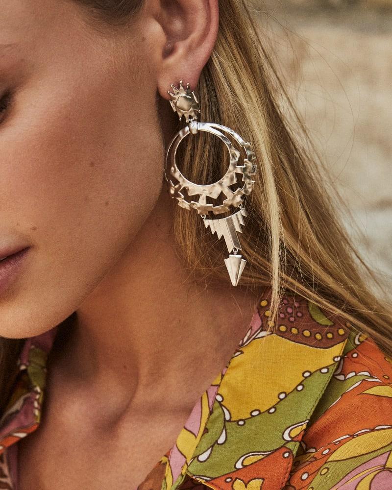 Shiva Statement Earrings in Silver