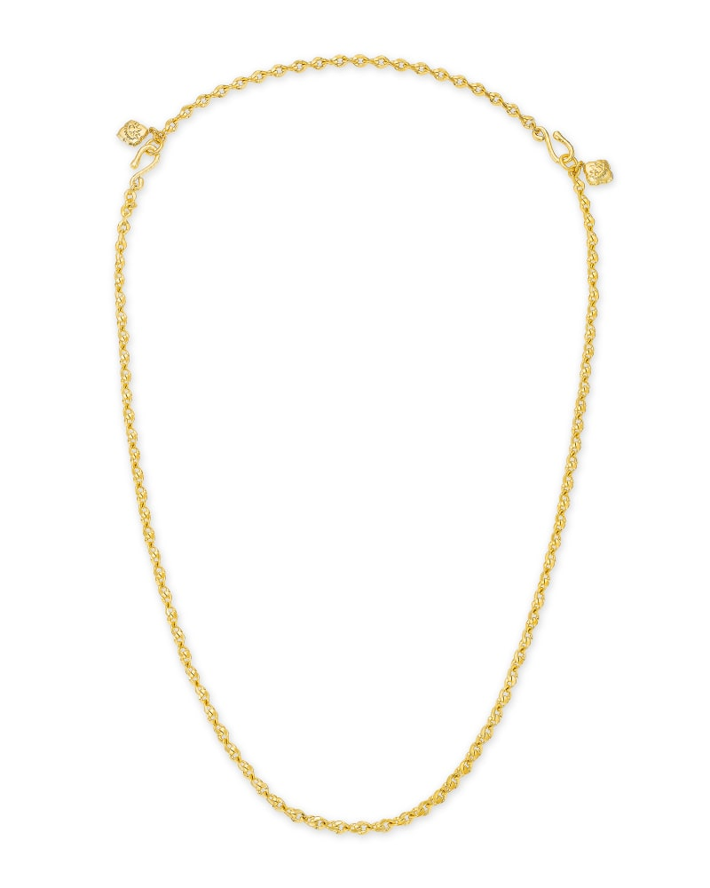 Cass Gold Large Long Pendant Necklace in Black Banded Agate