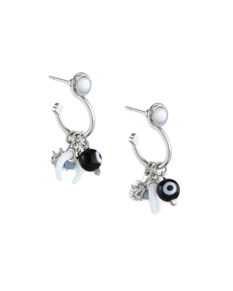 Gemma Silver Convertible Huggie Earrings Set in Neutral Mix