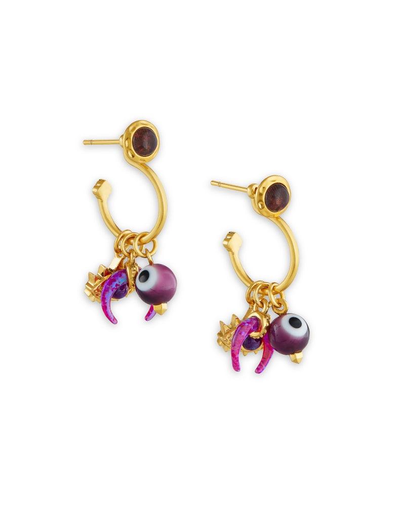 Gemma Gold Convertible Huggie Earrings Set in Teal Mix | Kendra Scott