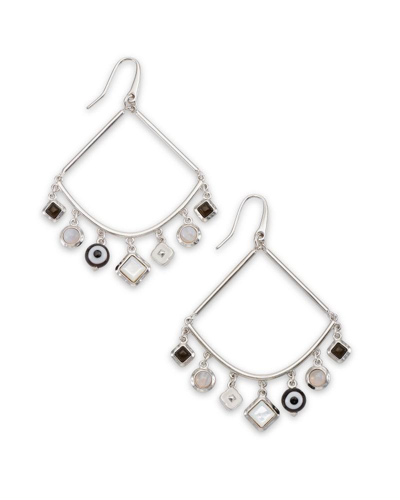 Gemma Silver Drop Earrings in Neutral Mix