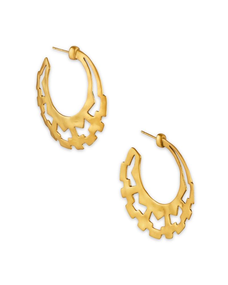 Shiva Hoop Earrings in Vintage Gold