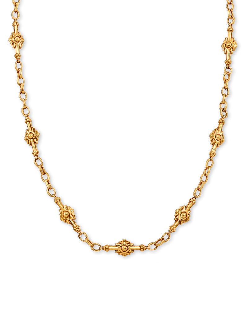 Shiva Strand Necklace in Vintage Gold