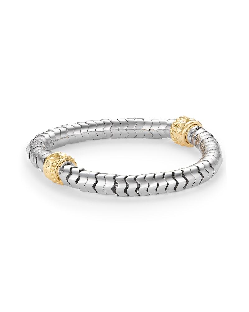 Shiva Stretch Bracelet in Silver