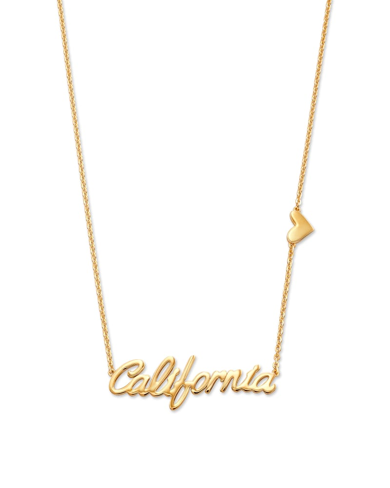 California Pendant Necklace in 18k Yellow Gold Vermeil
