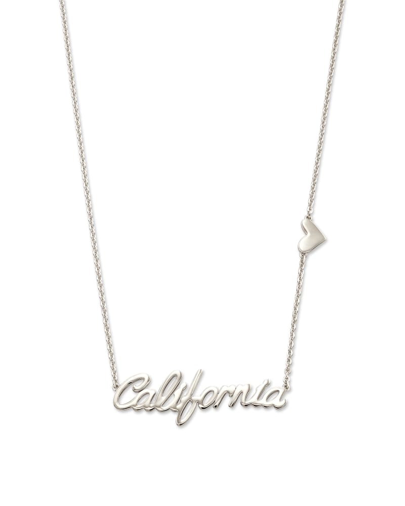 California Pendant Necklace in Sterling Silver