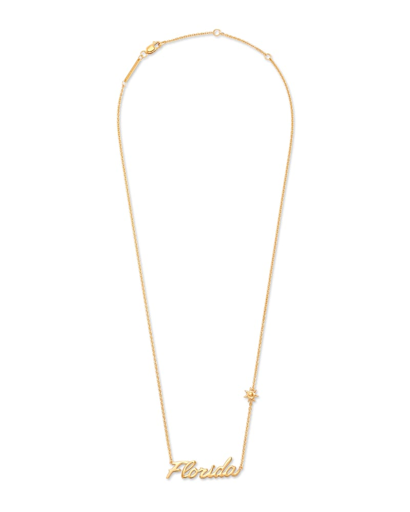 Florida Pendant Necklace in 18k Yellow Gold Vermeil