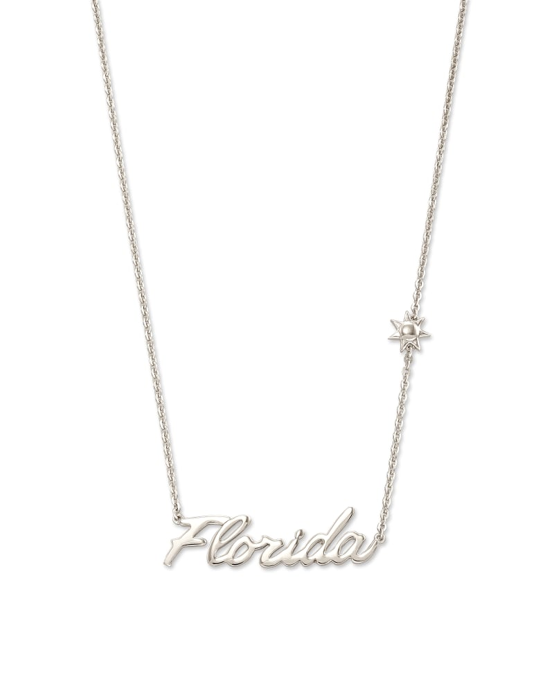Florida Pendant Necklace in Sterling Silver