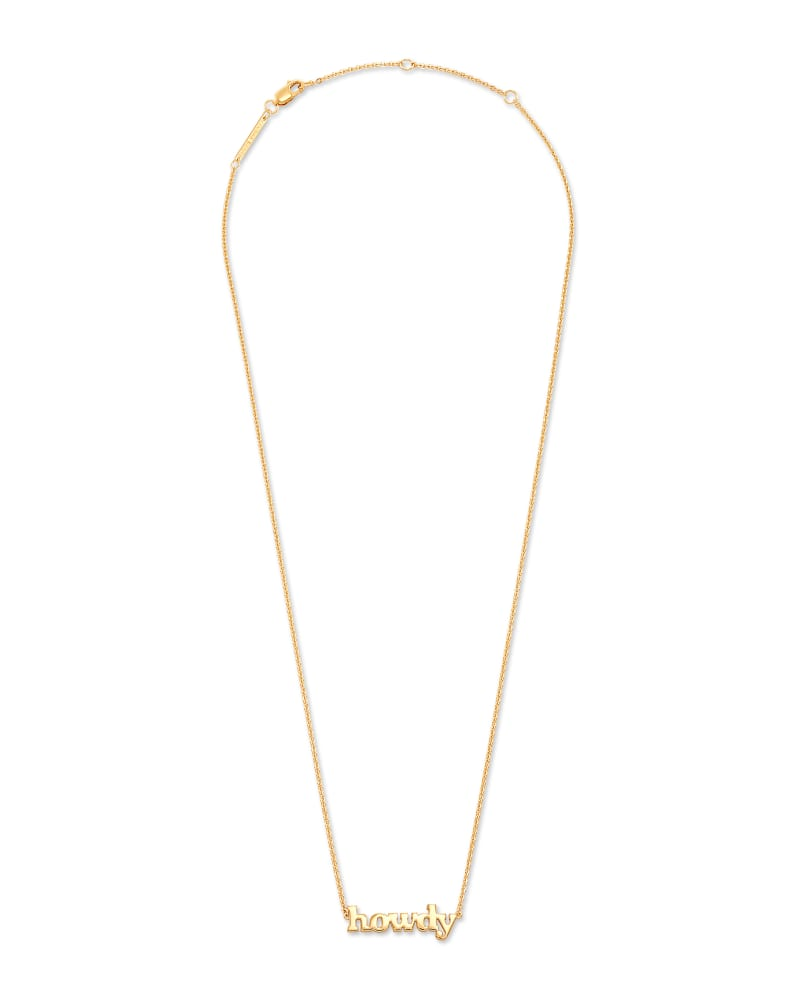 Howdy Pendant Necklace in 18k Yellow Gold Vermeil