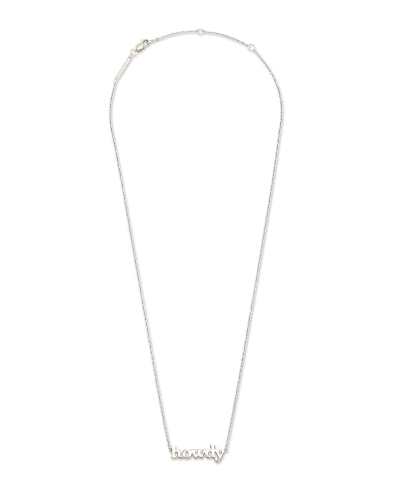 Howdy Pendant Necklace in Sterling Silver