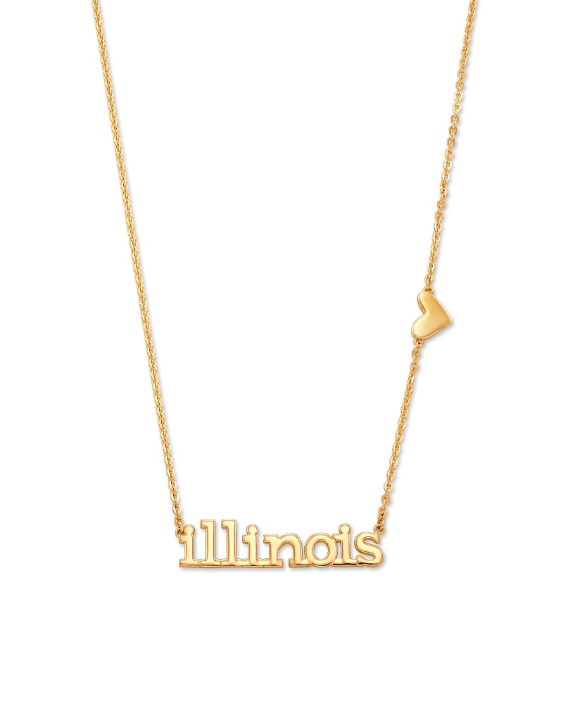 Illinois Pendant Necklace in 18k Yellow Gold Vermeil