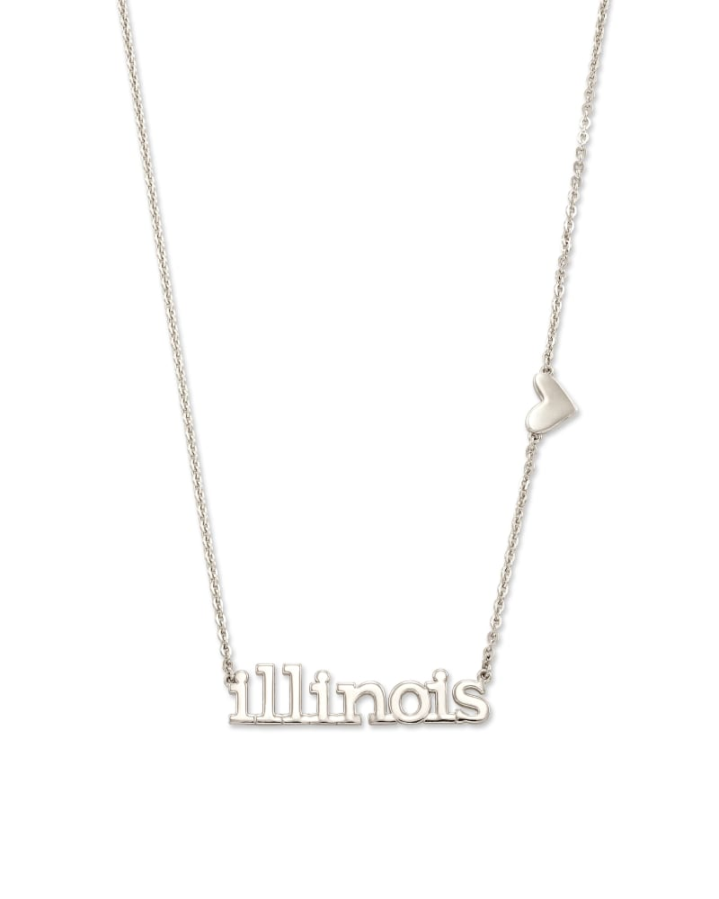 Illinois Pendant Necklace in Sterling Silver