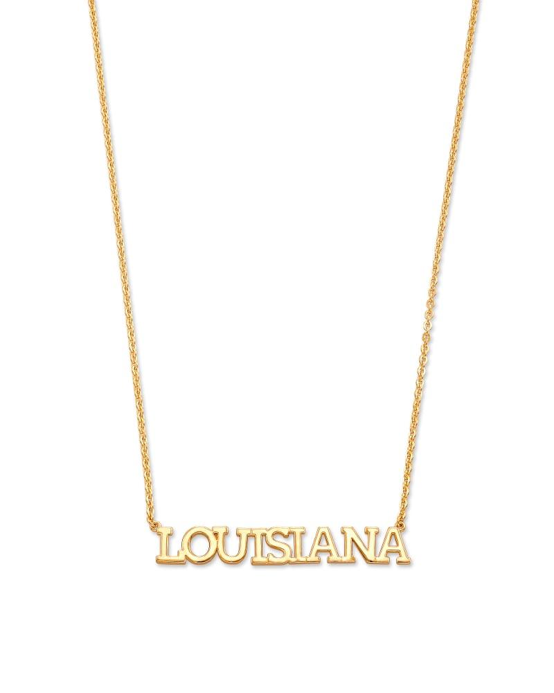 Louisiana Pendant Necklace in 18k Yellow Gold Vermeil